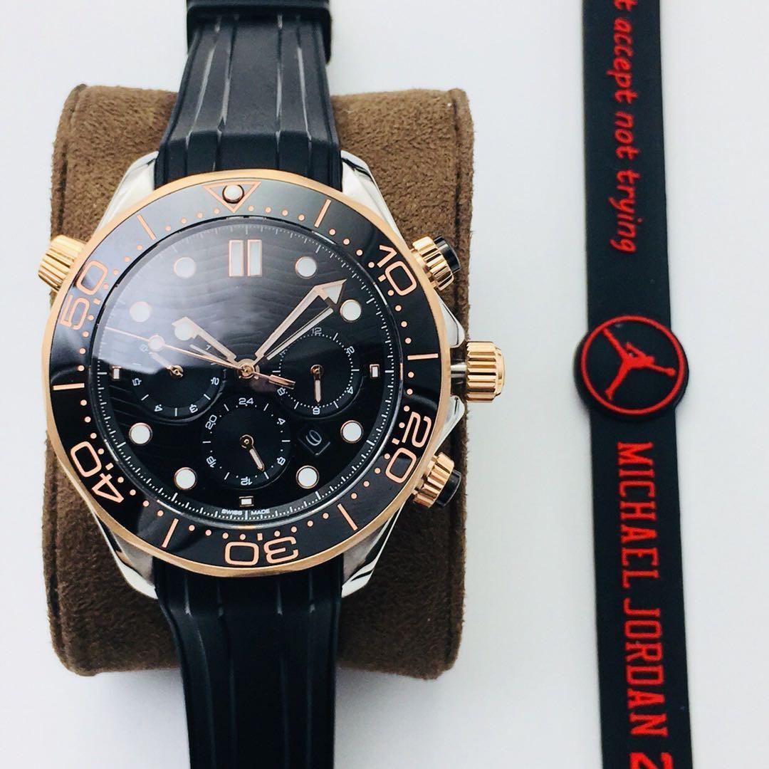 Movimiento automático multifuncional multifuncional de fábrica de alta calidad 9900 Reloj a través de 44 mmm316L de acero inoxidable Sapphire Sapphire G