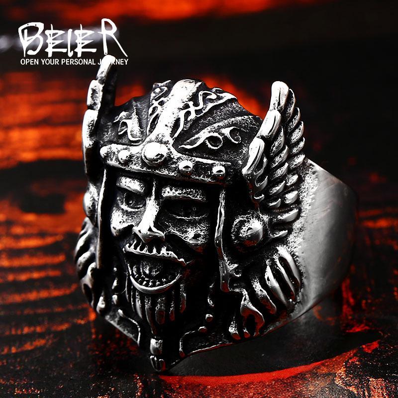 Joyería retro personlity Zeus Odin-ni mitología anillo de los hombres de titanio joyería animal BR8-239 envío libre