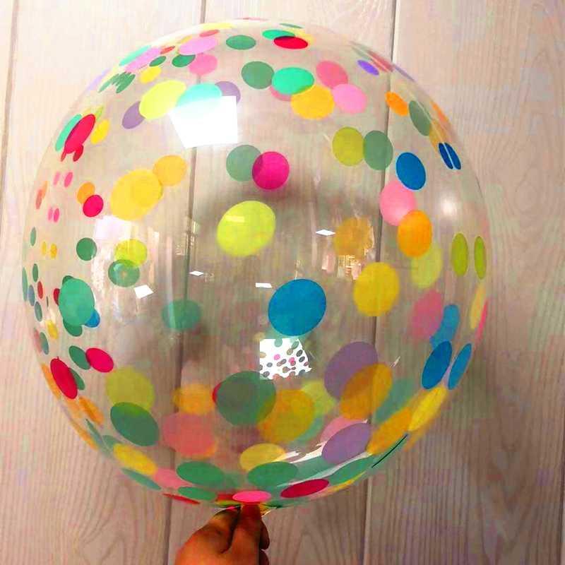 18 festa de aniversário do casamento DIY Inch Balloon Decoração Cor Balão de Hélio Transparente Partido PVC favores decoração de Natal