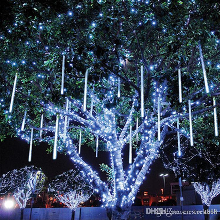 Yama Meteor Işık Seti Renkli Tüp Ağacı Işıklar Dekorasyon Aydınlatma Mühendisliği Çift Taraflı ışıldayan dışarı LED Hollow