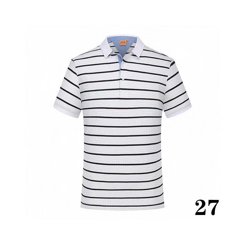 20 -36summer Хлопок сплошной цвет Новый стиль бренда мужская поползание высочайшее качество роскошь 2 мужская рубашка поло для продажи