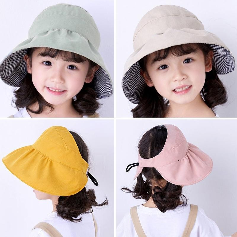 Дети Широкий Брим Sun Hat Summer Girls Слейте цилиндрах Kids Солнцезащитный Складной козырек Cap