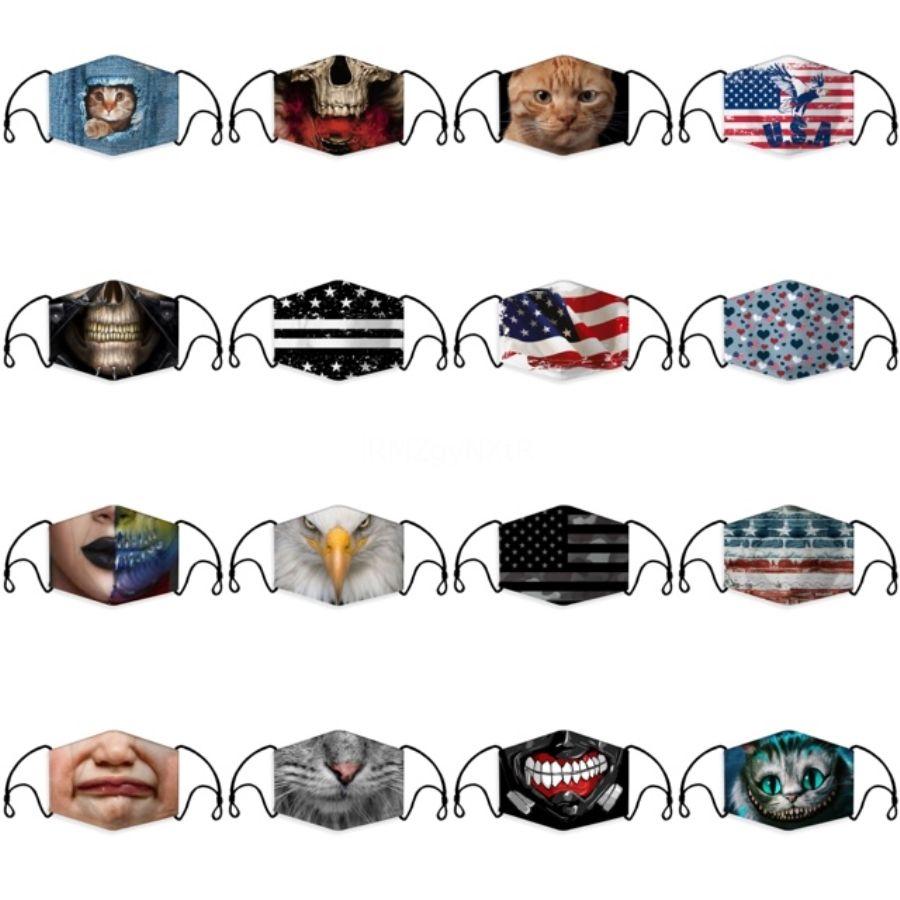 Adult And Kids Dustproof Face Mask Breathing Valve Mask Reusable Anti-Dust Haze PM2.5 Ice Silk Cotton Masks ZZA1871 120 1Pcs#350