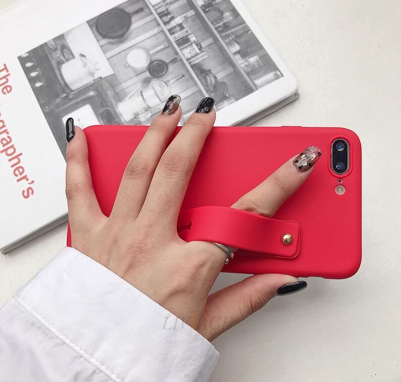 Support pour téléphone portable poignée anneau doigt Bracelet en silicone autocollant support push-pull coller le support de porte-bande téléphone main universelle