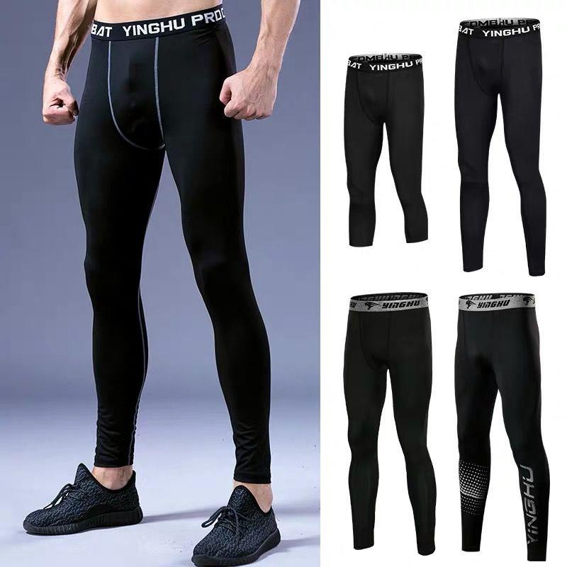 Hommes Pantalons Pantalons Bodybuilding Fitness Hommes Compression de yoga Courir Leggings Hommes Sport Base Layer Fitness Pantalon Marchepied