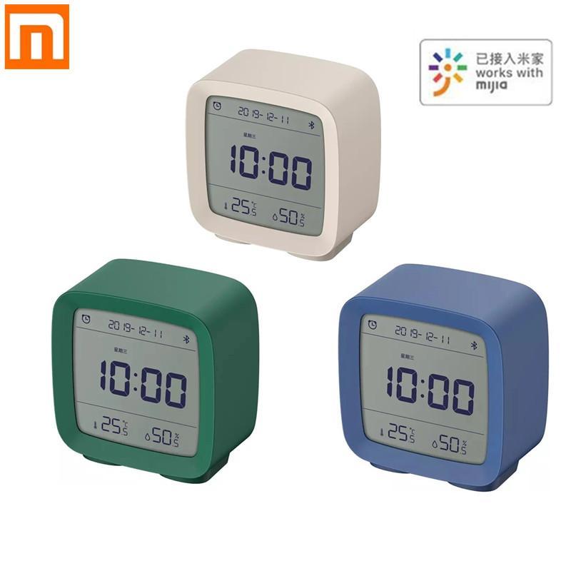 XIAOMI youpin Cleargrass بلوتوث المنبه تحكم ذكية درجة الحرارة الرطوبة شاشة LCD قابل للتعديل الليل 3 في 1 سمارت هوم