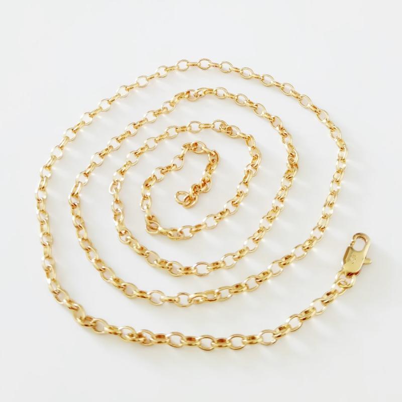 Corée Collier 2020 Collier en or Bijoux en or jaune 60 cm de long pour Bijoux Designs Femmes Mode Accessoires