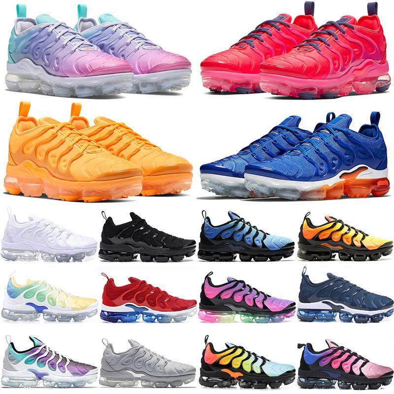 nike airmax vapormax tn plus scarpe da corsa per mens degli Stati Uniti 13 TNS tripla nero iper bianco Royal grigio Tramonto sport delle donne scarpe da ginnastica