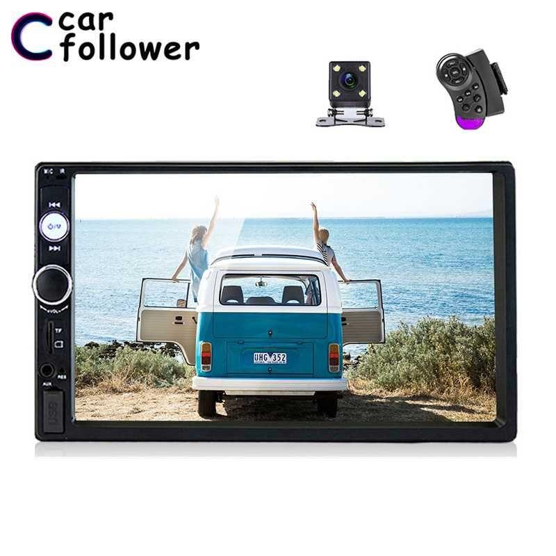 "Car Follower Universal 2 Din Car Radio 7"" Touch Screen Autoradio Video MP5 Player Auto Stereo Rear View Camera Multimedia Player"
