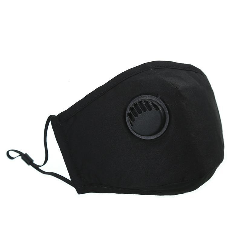 PM2.5 7 estilos unisex sólido del filtro Máscara anti-niebla algodón Válvula de montar a caballo de protección de respiración de color Anti-polvo Mmj2010 Ylvsn