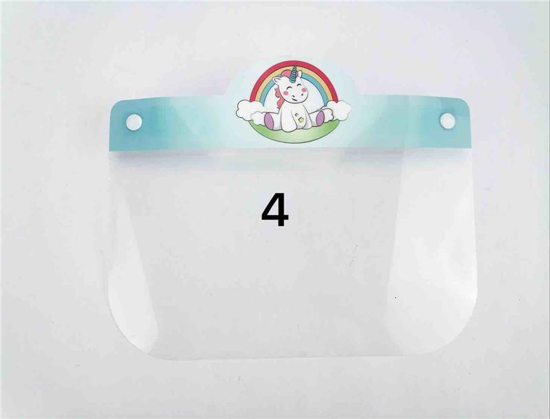 Karikatur-Kind-Anti-Fog-Sicherheit Transparent Anti-Spucken Splash Klar Eco Pet wiederverwendbares Gesichtsschutzschild Maske Visier Dwb536