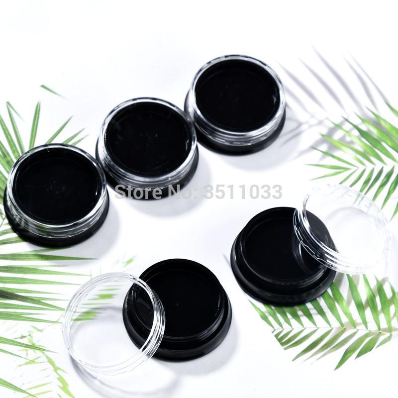 3g Mini vuoto vaso crema nero Ricaricabile contenitore cosmetico Campione del chiodo di trucco della decorazione di arte ricaricabile Vial Jar Box