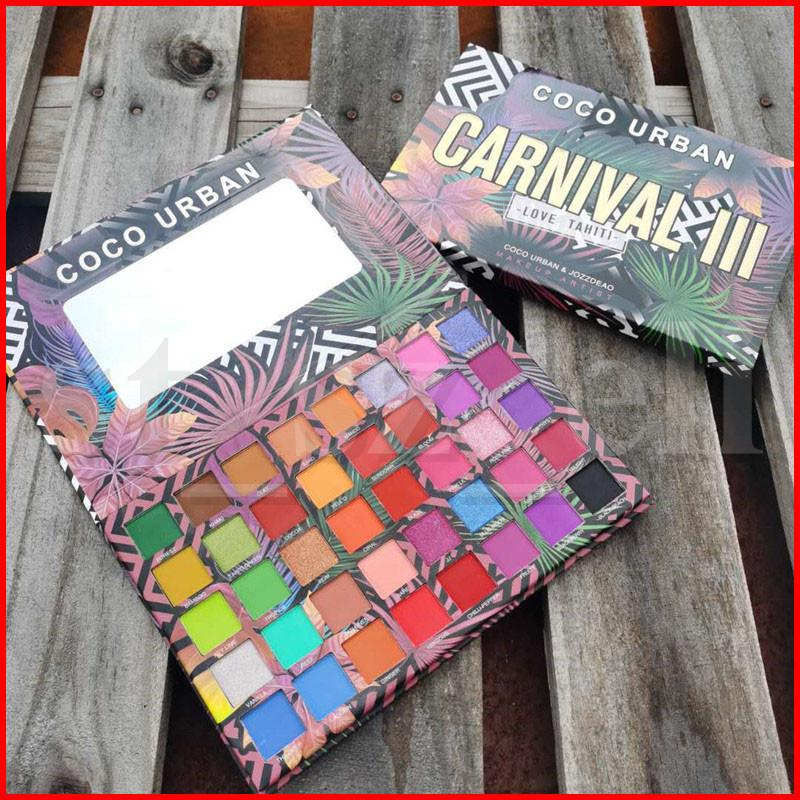 Coco Urban 40 Colors Carnival III Love Tahiti Eyeshadow Palette Ultra Eye Shadow Palettes Shimmer Matte Makeup Artist Cosmetics palette
