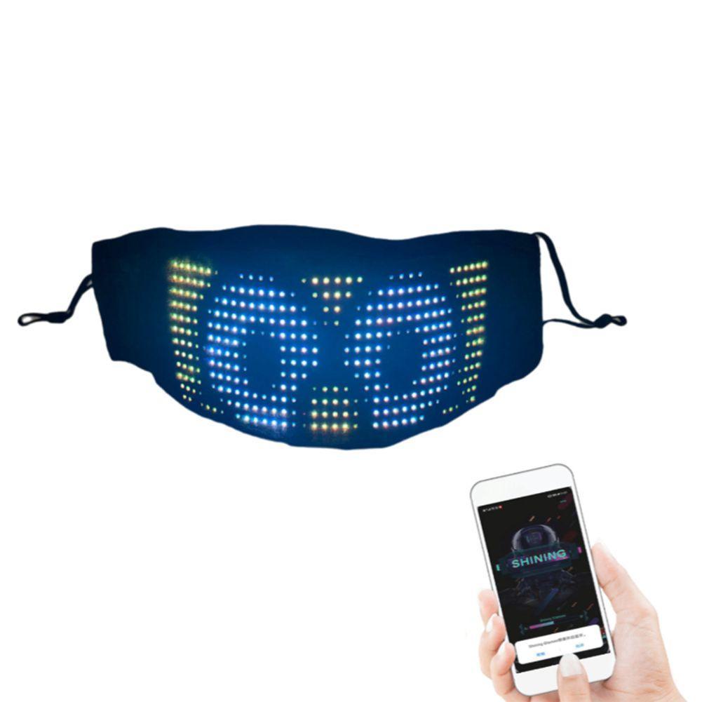 Светодиодная маска для контролируемого приложения Magic UP Control Control Rolling Maste для лица для пересылки Magic Light, мигающее событие и вечеринка DHL LE HCROP