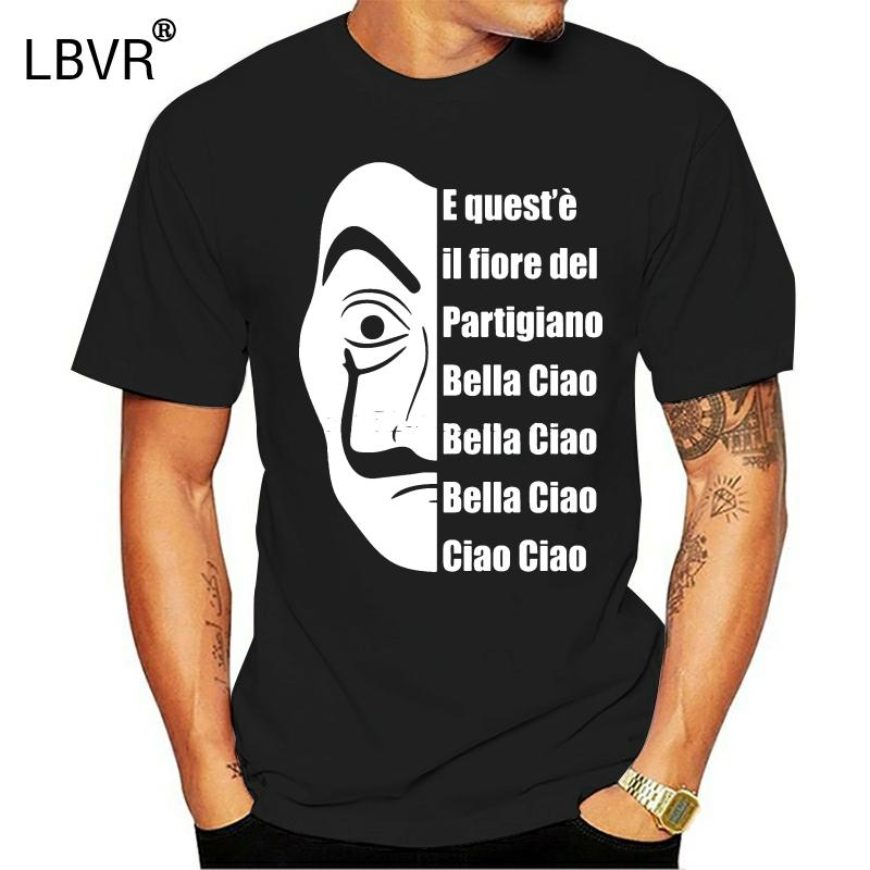 La casa de papel Tişörtlü İspanya Tv Para Heist Korku Ceza Hain Tshirts Siyah Yeni Kağıt Tişörtlü İnsanların Tees Evi Tops