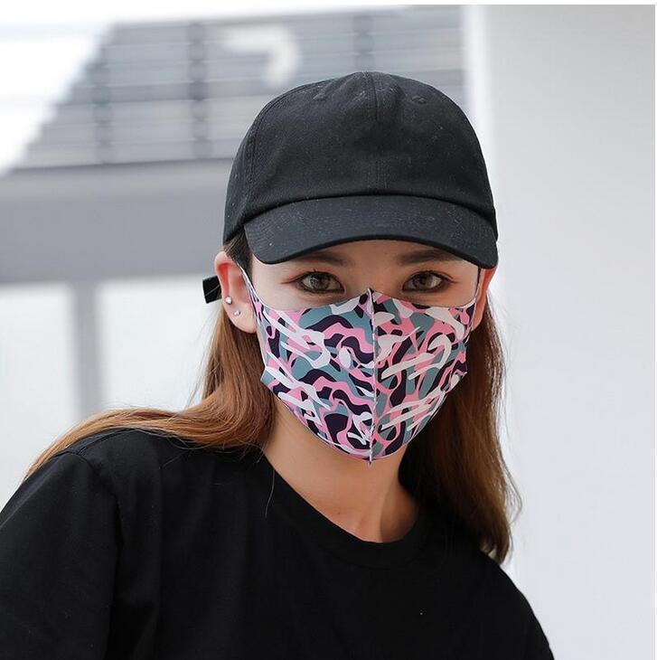Yüz Gemi Tasarımcı Unisexin Stock66369 için Kamuflaj Yıkanabilir Kamuflaj DHL Maske Lüks sunproof toz geçirmez Bisiklet Spor Ağız Kapak Maskeler 3d