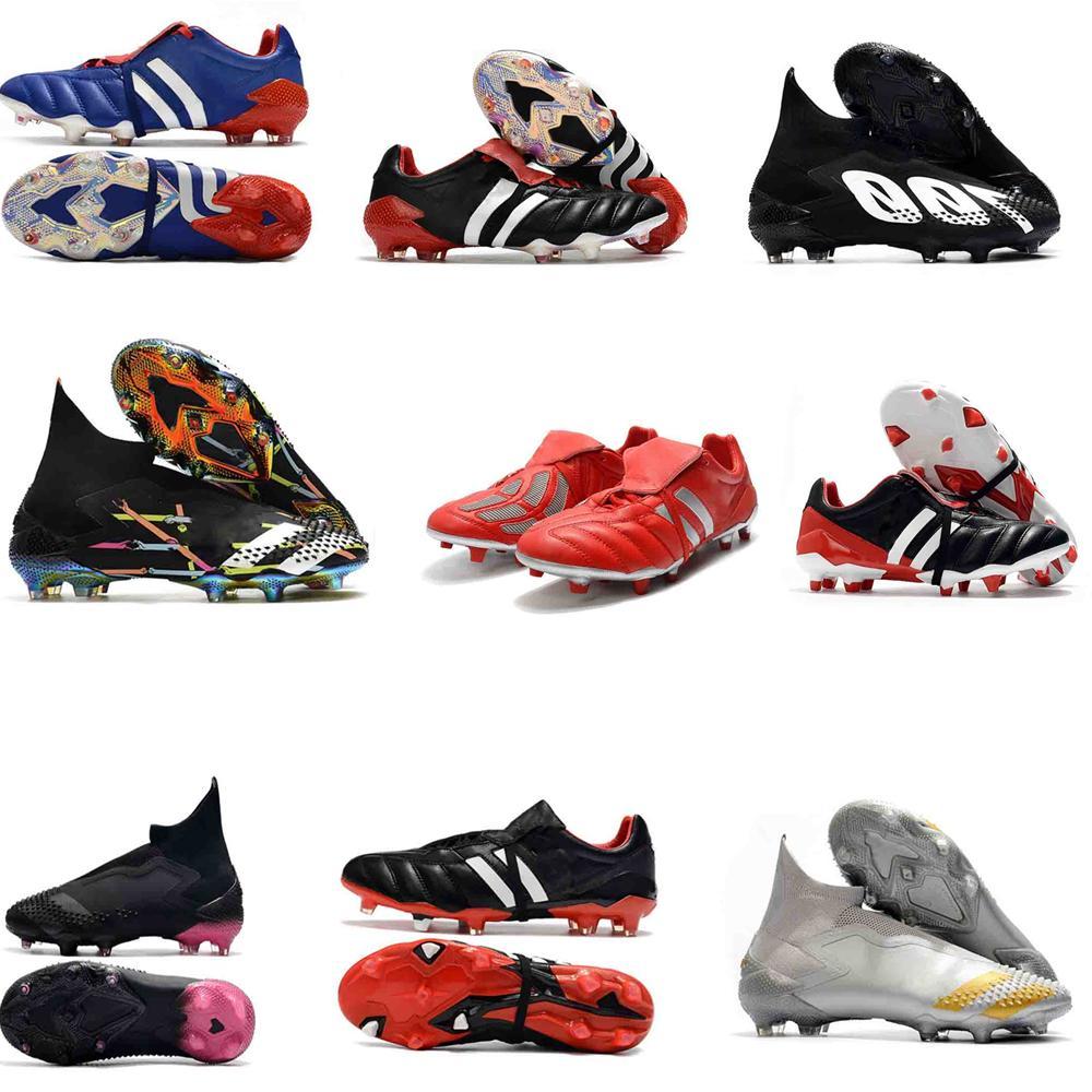 جديد أفضل رجل الأصل المفترس هوس 19.1 19+ FG كرة القدم أحذية عالية الجودة أسود أبيض أحمر لكرة القدم المرابط أحذية المفترس 20+ Mutator