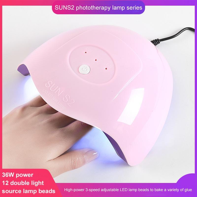 LED Vente UV solaire Nail Hot Nail Lampe Lampe polonaise Peinture Baking Gel Polish UV Gel Sèche-photopolymériser Outils d'art