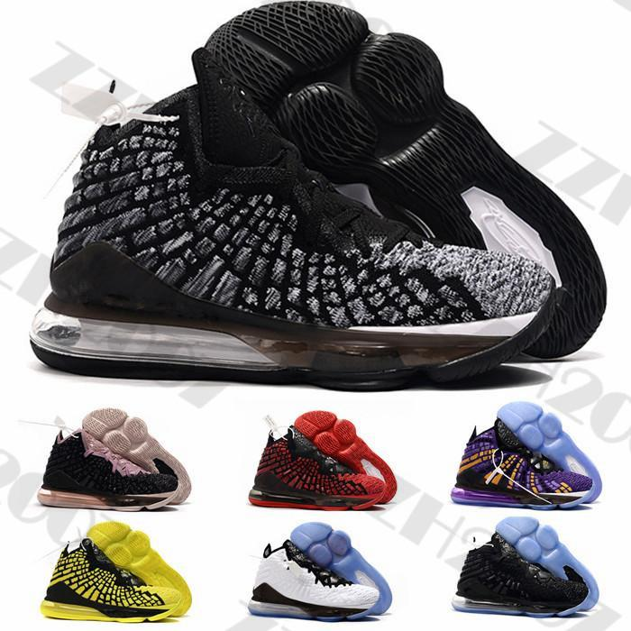 Nova lebron 17 16 Shoes XVI basquete James Ashes LA Rei All Stars Watch the Throne Martin Lakers Preto Igualdade Esporte Sneakers
