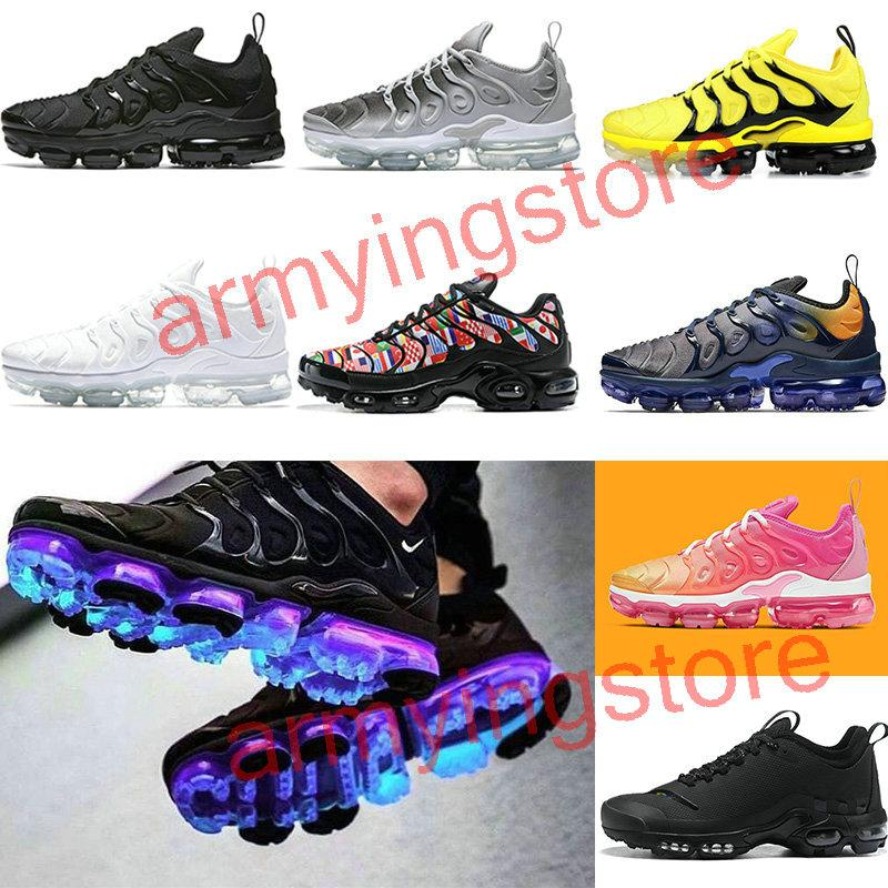 2020 TN Plus Bumblebee Mens Womens running shoes Active Fuchsia Black White USA Game Royal Wolf Grey Trainers Sports Sneakers 36-47