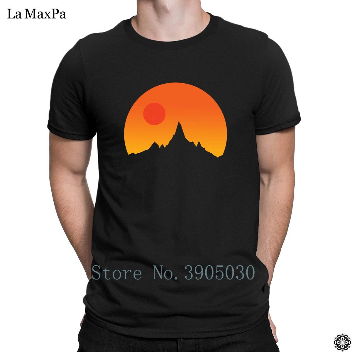 Gedruckt Unisex Große T-Shirt Wild-West-Sonnenuntergang-T-Shirt für Männer Funky T-Shirt für Männer aus 100% Baumwolle Vintage-T-Shirt Anti-Falten
