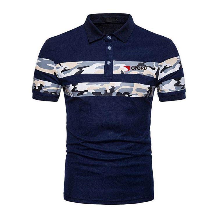 Uomini Golf Polo T Shirt ordine all'ingrosso proprio marchio Logo Poliestere Spandex anti-uv Sublimazione