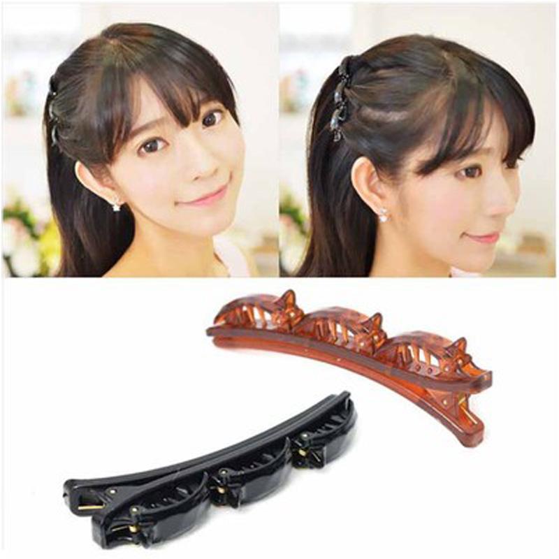 Haar-Band-Art- und Double Layer vorne Twist Plait Klipp-Haar-Clip Stirnband für Frauen Girl Band Zubehör
