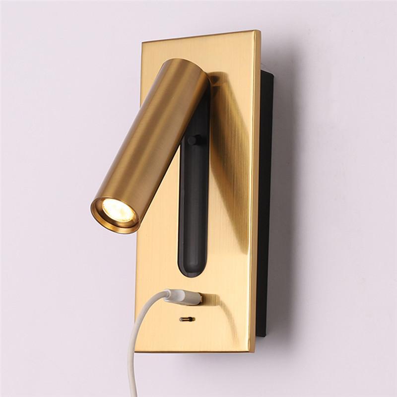 Topoch Modern Başucu Duvar Lambası Ile USB Dahili Aplik ile Ayarlanabilir Başlık Kitabı Işık Odaklı Işın Açma / Kapalı