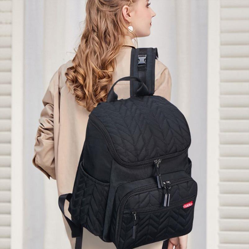 Tampon Drop Shipping değiştirme ile Okul Çantaları Hamile Nappy Bebek Bezi Çanta Çok Fonksiyonlu Mumya Çanta Seyahat Sırt Çantası
