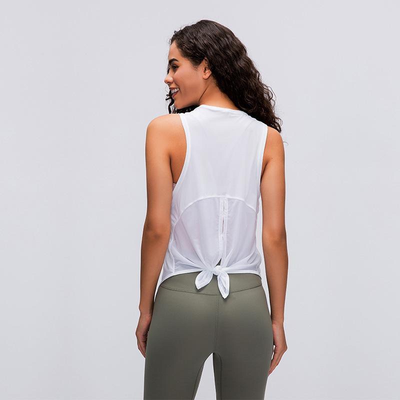 تشغيل اليوغا أعلى خزان سترة الملابس تي شيرت رياضي النساء للياقة البدنية شبكة الأسود التجفيف السريع تنفس التعادل بلا أكمام فضفاضة حتى لو وزرة أعلى قميص