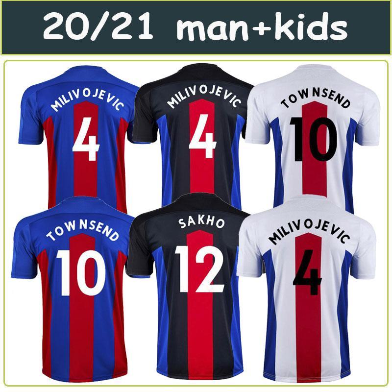 2021 uniformes de cristal de futebol em casa jersey # 11 ZAHA 20/21 Palace longe brancas terceiros camisas de futebol preto homens do futebol