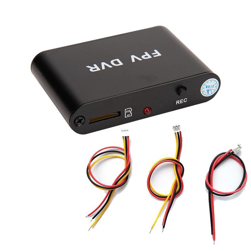 TRANSPORTE LIVRE Micro 1CH HD DVR com kits de cabo AV Recorder 30f / s cartão funciona FPV DVR Suporte 32G TF com câmera de CCTV ANALOG