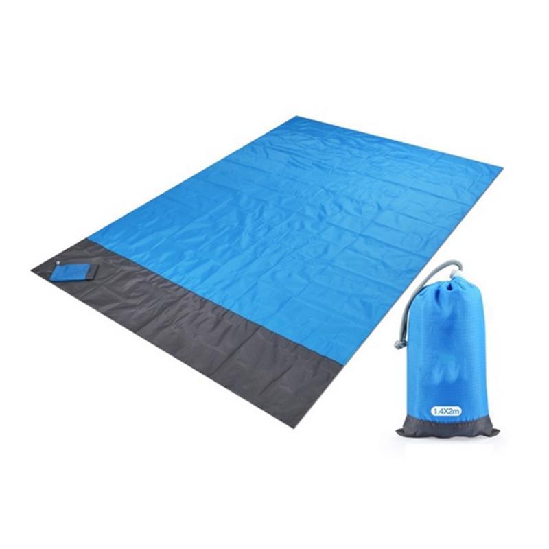 Plaj Piknik Kamp Yürüyüş için su geçirmez Cep Beach Blanket Taşınabilir Kompakt Çok Fonksiyonlu Katlanabilir Hafif Mat