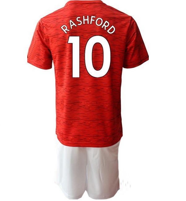 Personalizzato 20-21 18 B.fernande Jerseys Soccer Set con pantaloncini a buon mercato Rashford 10 7 Alexis 6 Pogba 8 Mata 19 21 5 Kit di Uniformi Maguire