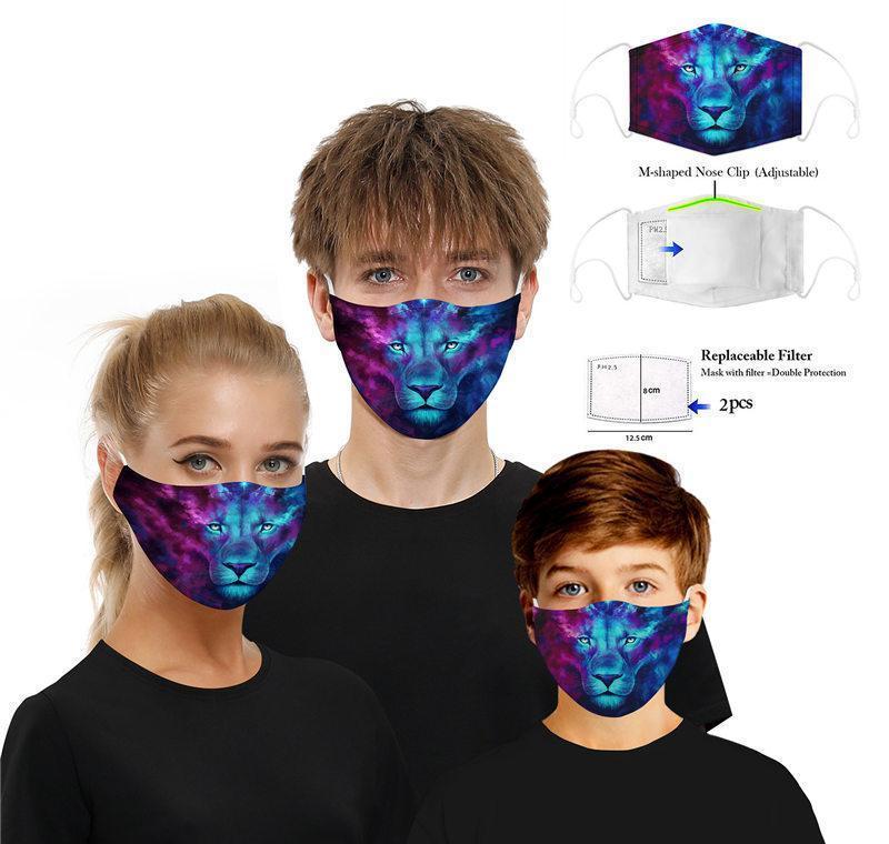 Masque bouche des animaux + Visage de chat détachable PM2,5 masque coton extérieur Impression face Parti Dhl Masques de loup spot Filtre Filtre home200 DQPfjm