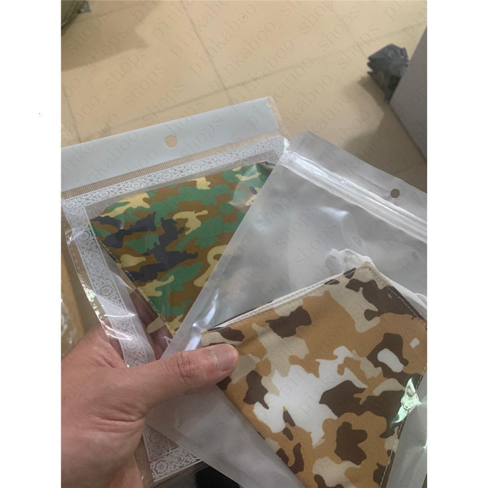 Maschere antipolvere Stampato Camouflage poco costoso unisex Viso Haze a due piani in cotone lavabile breathabl Mgur