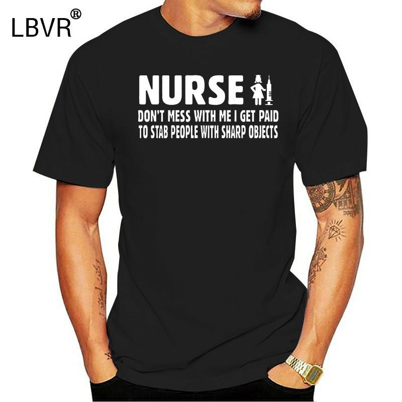 DILDAN caliente 2.019 hombres camiseta del verano Moda Slim Fit cuello redondo de la camiseta divertida de la enfermera Camisa Médica Basketballer Top