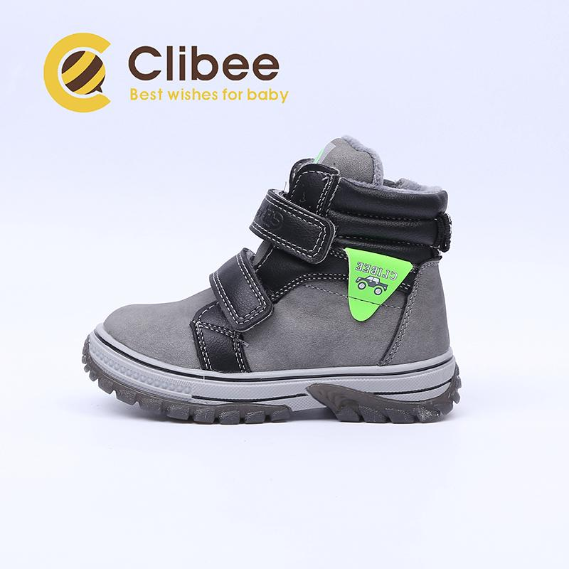 CLIBEE Children PU Leather Boots Boys