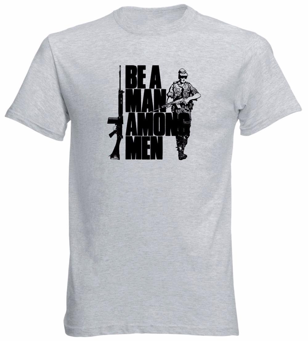 Tees tarzı 308 Nato İngiliz Tüfek El yapımı Tişörtlü Moda Günlük Yenilikçi tişört Erkekler Tee FN Dünya Arasında Bir Adam olun Soğuk Tops