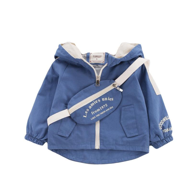 New Spring Autumn Children Fashion Clothes Baby Boys Girls Hooded Jacket Cute Bag Kids Infant Clothing Toddler Casual Sportswear