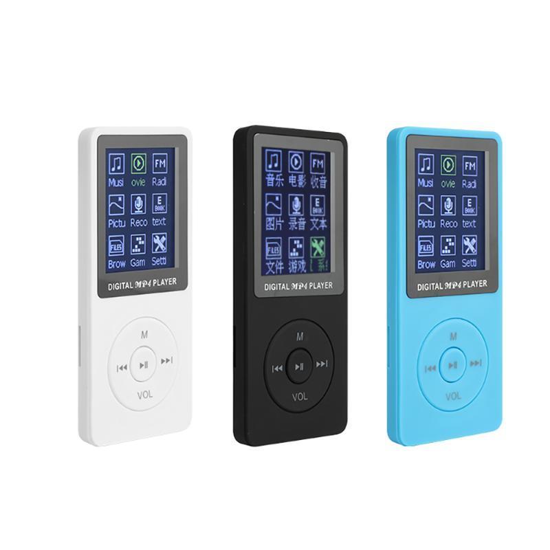 Digital MP4 Player com tela de LCD portátil 70 horas de reprodução de MP3 Lossless Som Music Player FM Recorder TF para o smartphone