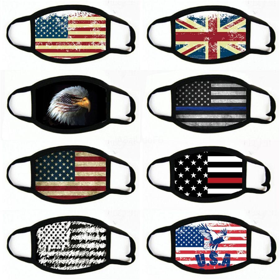 Esterna che guida Sun Protection Bib American Flag Multi Function polvere e di sole Protezione Sport fascia Ice Silk Mask # 632