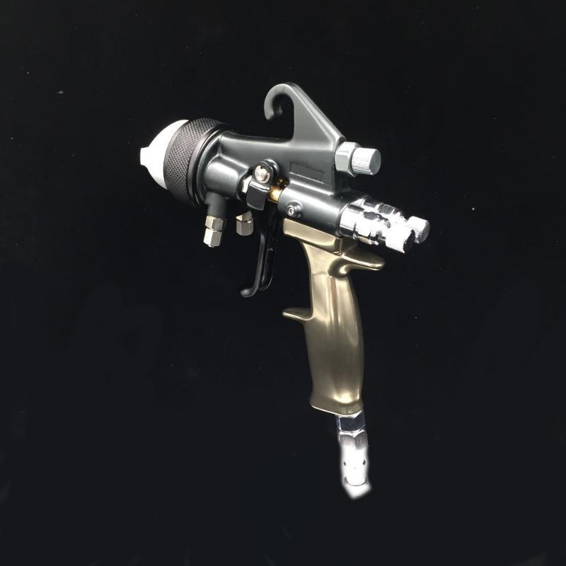 SAT1205 رش الخشب بندقية عمل اللوحة المزدوجة فوهة فوهة مزدوجة رذاذ الطلاء بندقية الهواء المهنية التلقائي