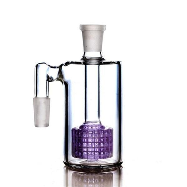 콜렉터 유리 봉 액세서리 무모한 유리 살짝 적셔 굴착 물 담뱃대 물 담배 흡연 퍼플 14mm 재 포수 드럼 퍼크 여과기 14MM 18MM