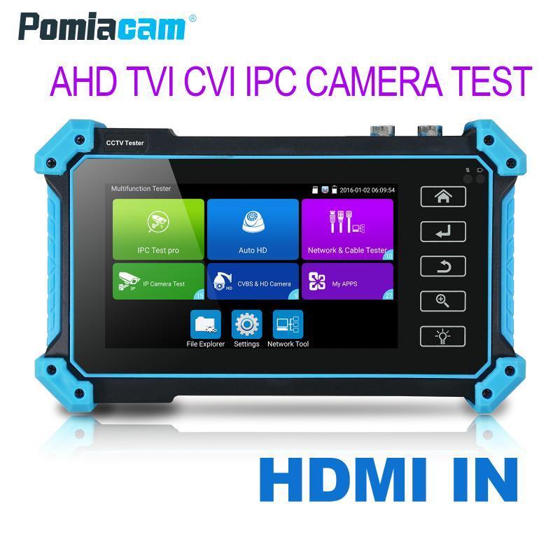 Wanglu IPC-5000Plus Video Surveillance Tester Monitor 5 polegadas Ferramenta de teste CCTV CCTV H2.65 Teste HD