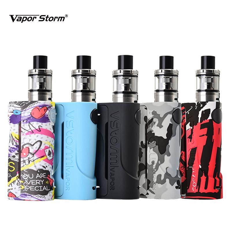 Vapor Storm ECO Kit Max 90W Electronic Cigarette Tank 2.0ml 0.3ohm Graffiti Box Mod Vape 510 Drip Tip Support RDA RDTA Vaporizer kit