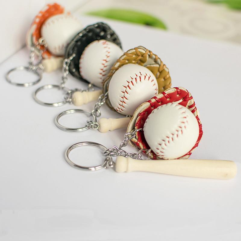 Schlüsselanhänger Baseball Schlüsselkette der neuen Qualitäts-Baseballschläger und Baseball-Handschuhe Schlüsselring-Geschenk Schlüsselanhänger für Sportandenken