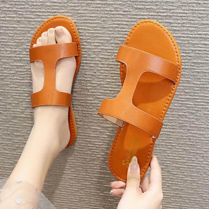 Sommer-neue 3Colors Damenschuhe Hausschuhe Mode Strand Flache Schuhe Anti-Rutsch-Outdoor-Hausschuhe Sandalen mit flachem Boden Damen