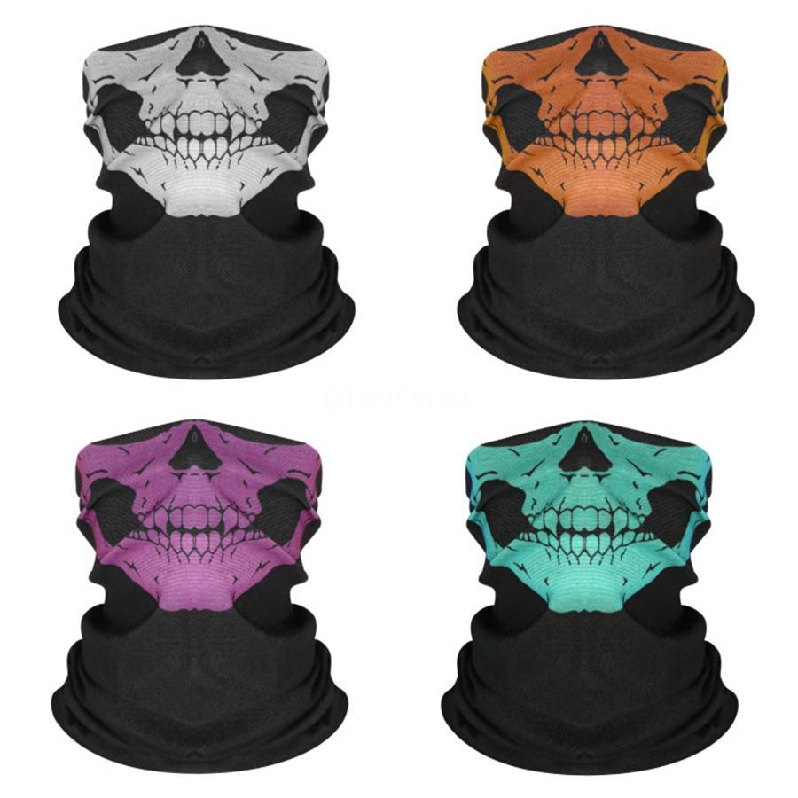 NJ1D5 Kargo Filtre Moda Sihirli Maske Eşarplar Kid With Baskı Kafatası Eşarp Turban Boyun bandanas Koruyucu Yüz Kafatası Eşarp Güneş Maskeler # 439