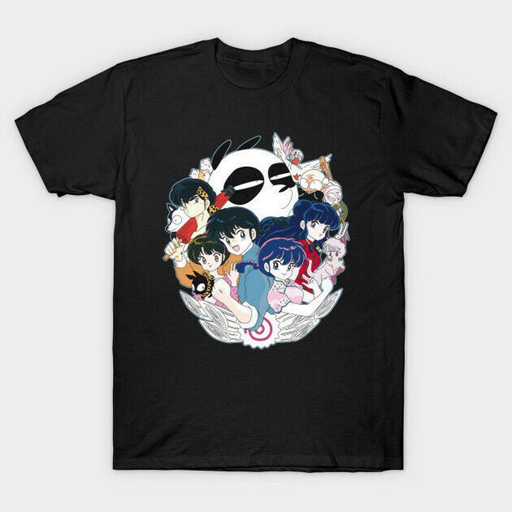 Ranma 12 Akane Tendo Nodoka Saotome animado Negro Camiseta Para aficionados S-3XL transpirable Tops Camiseta